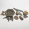 A large set of chinese 19th/20th century brass fitings.