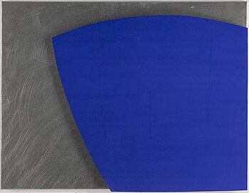 GUNNAR ÅNGER, painted wood and zinc plate, signed and dated -97 verso.