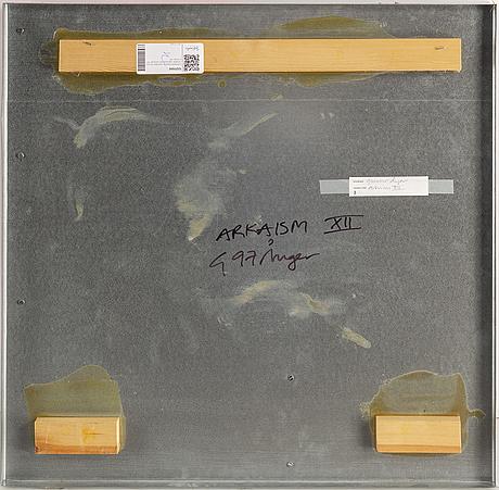 Gunnar Ånger, bemålat trä och zinkplåt, signerad och daterad -97 a tergo.