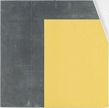 GUNNAR ÅNGER, painted zinc plate, signed and dated -94 verso.