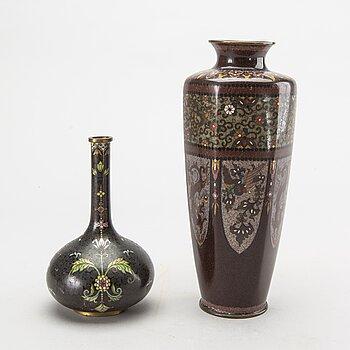VASER 2 st, Japan Meiji (1868-1912) cloisonné.