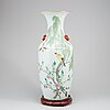 A large chinese famille rose floor vase, 20th century.
