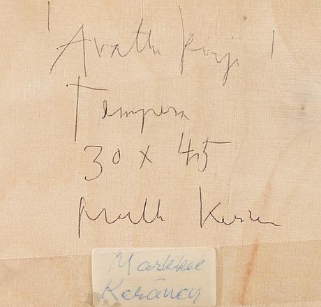 Markku kerÄnen,  tempera on paper, signed.