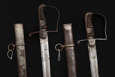 Sabres, two, swedish m/1831.