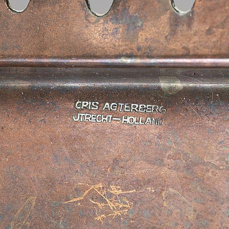 Cris agterberg, a copper dish. utrecht, holland.