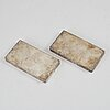 Silvertackor, 2 st, sammanlagt 450 gram.
