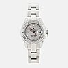 Rolex, oyster perpetual date, yacht-master, chronometer, wristwatch, 29 mm.