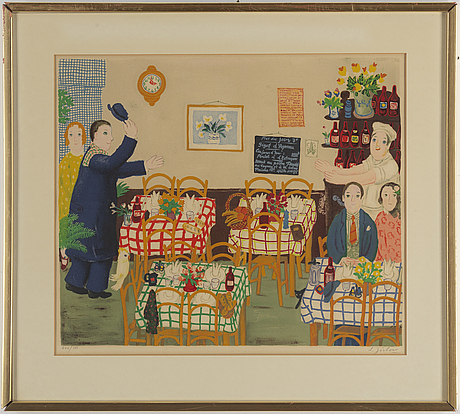 Lennart jirlow, lithograph in colours, 1975, signed 246/380.