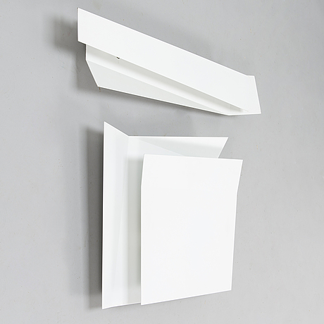 "Marco zito, two wall mounted lights, ""flap 1"" and ""flap 3"", for foscarini, italy. design year 2009."