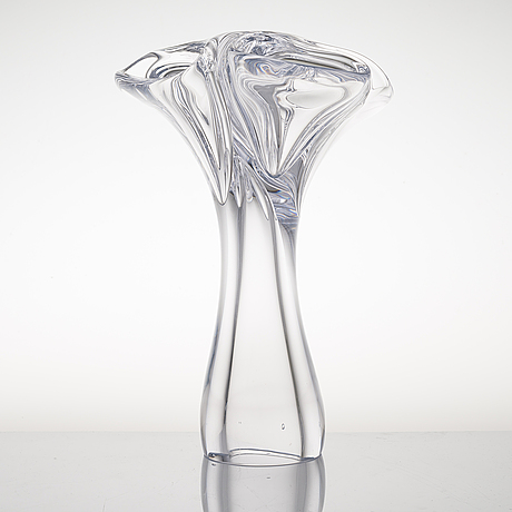 Kari alakoski, an 'acacia' glass sculpture, signed kari alakoski 2015. glass studio mafka & alakoski.
