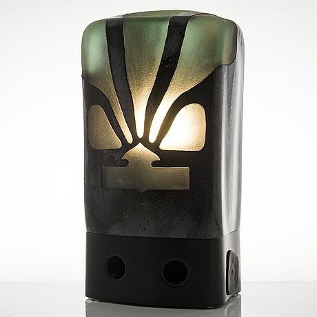 Marja hepo-aho, a radio/sculpture 'forest radio', signed marja hepo-aho 2019. glass studio mafka & alakoski.