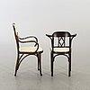 Karmstol samt stol delvis thonet, 1900-talets början.