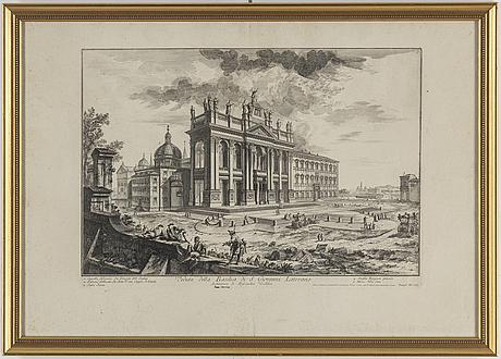 Giovanni battista piranesi, after, etchings, 2. 19th century.
