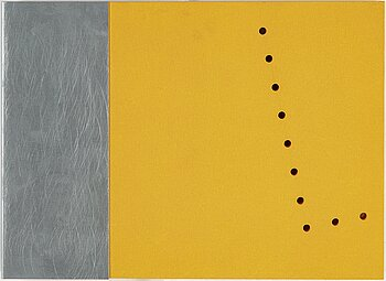 GUNNAR ÅNGER, painted wood and zinc plate, 4, one signed and dated 95 verso.