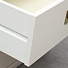 A par of ikea bedside tables, late 20th century.