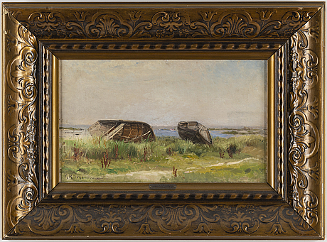 Gustaf rydberg, oil on canvas, signed and dated kivik 1898.