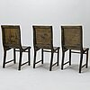 A set of three 1930's chairs.
