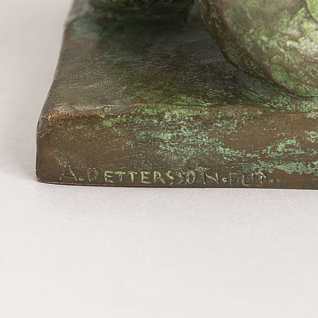 Jussi mäntynen, sculpture, bronze, signed and dated 1950.