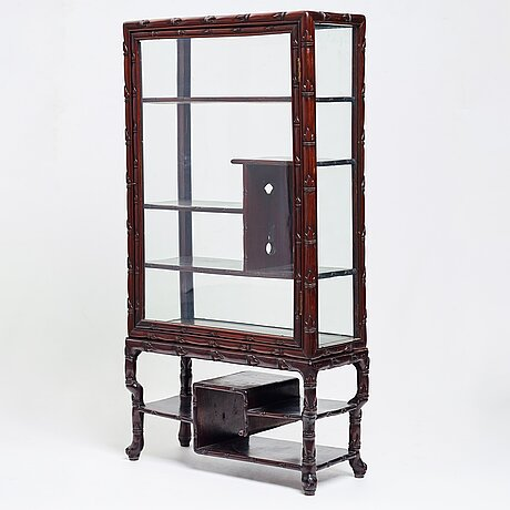 A wooden stand with a cabinet, late qing circa 1900.