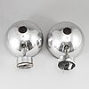 Hans-agne jakobsson, a pair of wall lights, markaryd. second half of the 20th century.