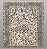 A carpet, keshan, ca 313 x 231 cm.