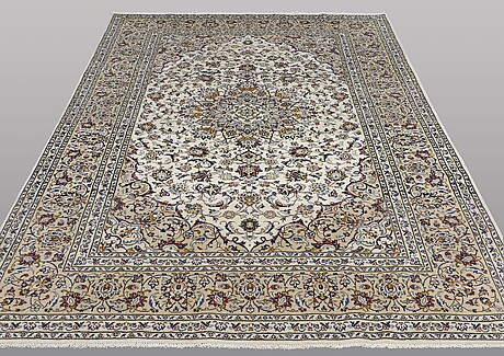 A carpet, keshan, ca 300 x 208 cm.