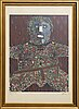 Enrico baj, lithograph and mixed emdia signed and numbered 67/250.