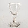 Four glasses, first half of the 19th century.