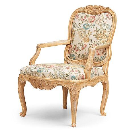 A swedish rococo 18th century armchair.