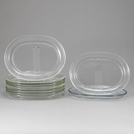 Ten glassplates  by josef frank for firma svenskt tenn.