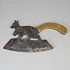 A 19th century iron meat axe.