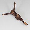A 19th century carved wood crucifix.