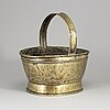 A 19th century brass flower basket.