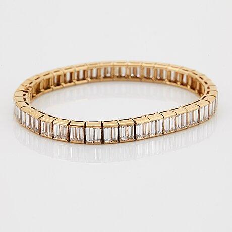 "A van cleef et arpels bracelet ""bracelet baguette""."