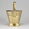 A 19th century brass flower basket.