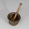A 17th century bronze mortar.