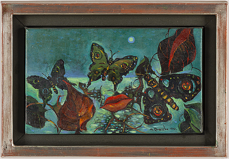 Michael qvarsebo, oil on canvas, signed and dated 1972.