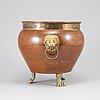 Champagnekylare, mässing och koppar, 1800-tal.