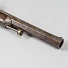A 1840's french cased percussion pistols marked: mre rle de maubeuge.