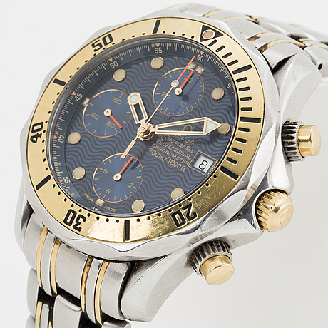 Omega, seamaster, professional (300m/1000ft), chronometer, chronograph, wristwatch, 41,5 mm.