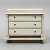 A mid 19th century chest of drawers, karl johan.