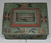 An early 19th century wooden box.
