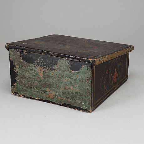 A late 18th century wooden box.