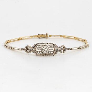 Armband med gammalslipad och rosenslipade diamanter.