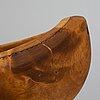 Lars levi sunna, a sami birch and reindeer horn bowl, signed ll sunna.