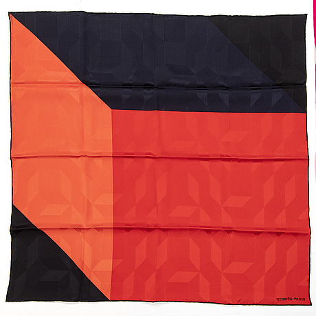 HermÈs, three silk scarves.