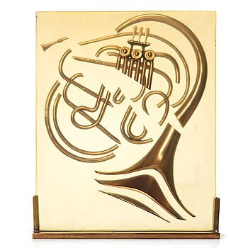 FERNANDEZ ARMAN, Accumulation with horn. Signed Arman and numbered 62/99.