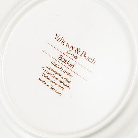 """Te- och kaffeservis, 36 delar, porslin, """"basket"""", villeroy & boch."""
