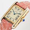 Cartier, tank, wristwatch, 20 x 28 mm.