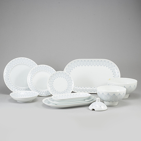 A rosenthal dinner service, 20th century. (77 pieces).